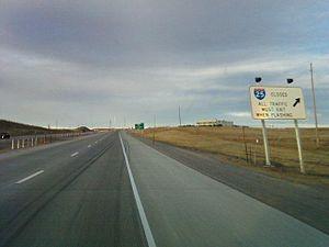 Interstate 25 northbound in Laramie County, Wy...