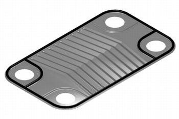 An individual plate for a heat exchanger