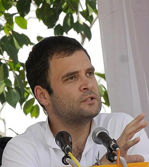 Rahul Gandhi at a rally in Ernakulam, Kerala.