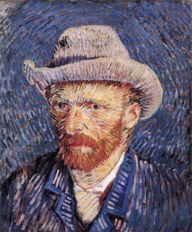 Self-portrait with Felt Hat by Vincent van Gogh