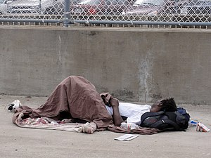 Sleeping on the Sidewalk, Atlanta, Georgia