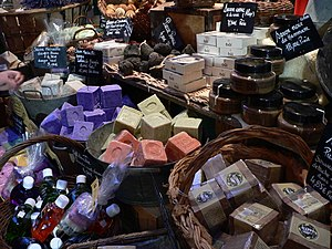 Handmade soaps sold at Hyères, France
