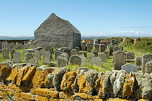 English: St Boniface Kirk, looking towards Westray