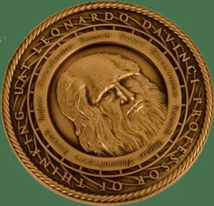 English: The Leonardo da Vinci Society Medallion