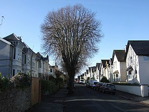 Thurlow Road, Torquay This is the view from th...