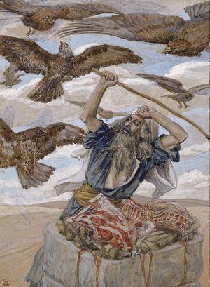 Abram Guarding His Sacrifice, c. 1896-1902, by...