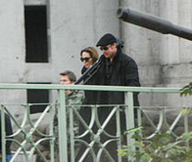 Jolie And Brad Pitt On The Set Of In The Land Of Blood And Honey In Esztergom On November 10 2010