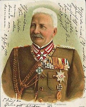 Alfred Graf von Waldersee. 1901 versandte mit ...