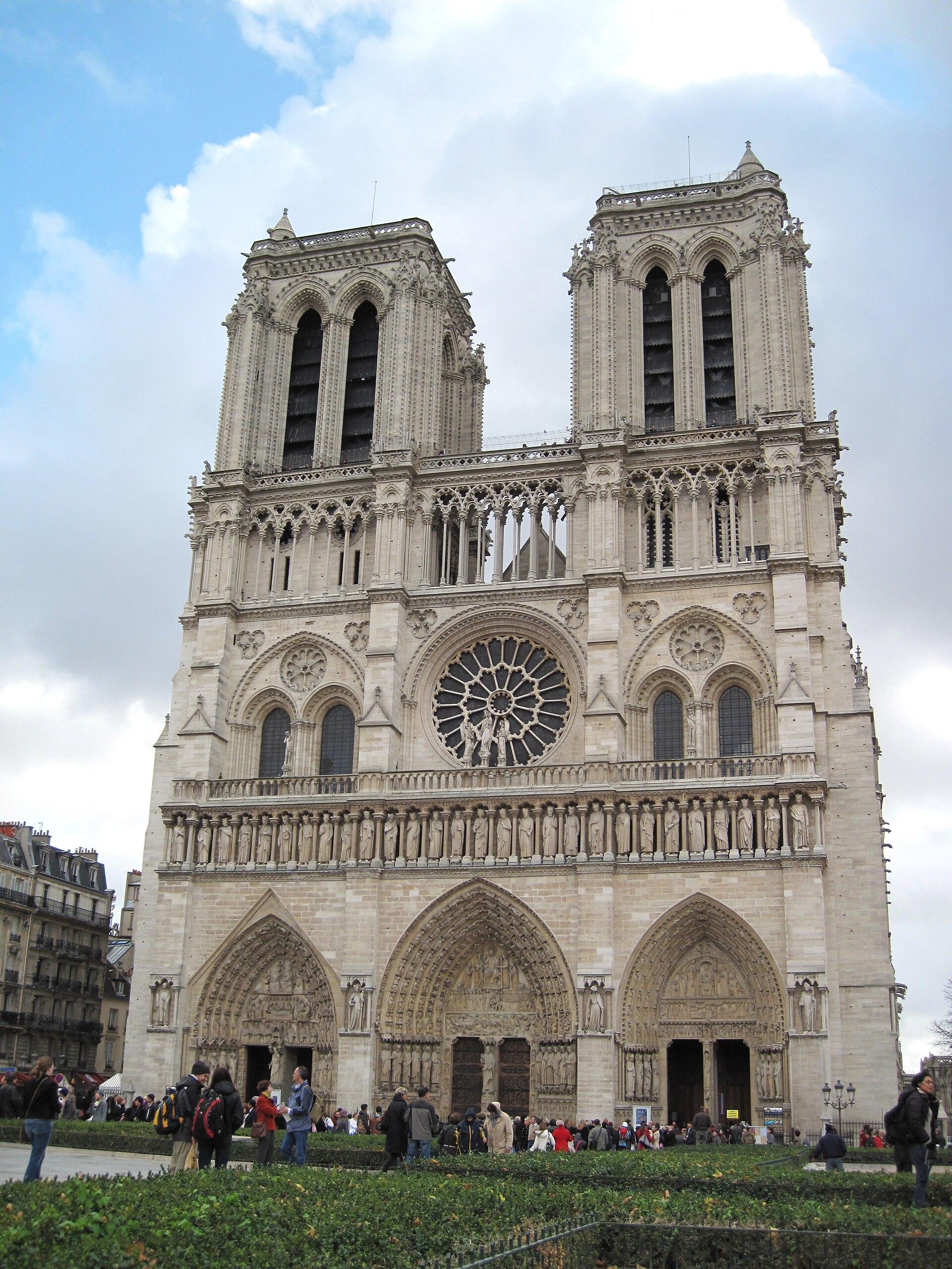 کلیسای نوتردام پاریس ویکی پدیا، دانشنامهٔ آزاد