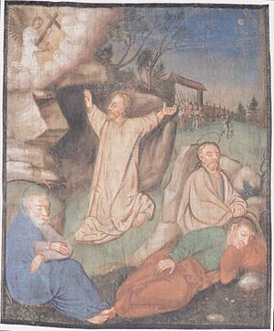 Lenten-canvas of Millstatt - Jesus on the Moun...