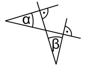Pairwise perpendicular angles 1