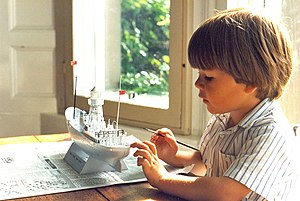 Plastic model   Wikipedia A 4 year old boy starts painting an assembled plastic model of the South  Goodwin Lightship