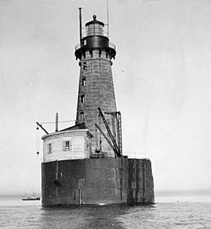 English: Stannard Rock Light, Michigan, Lake S...
