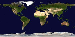 Satellite composition of the whole Earth's sur...