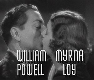 Cropped screenshot of William Powell and Myrna...