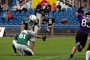 Field goal kick in american football. Playing ...