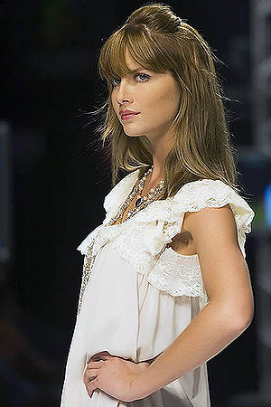 Brazilian model Ana Cláudia Michels. Português...