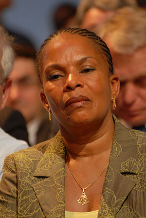 Christiane Taubira during Ségolène Royal and J...