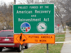 "a ""Project Funded by The American Recover..."