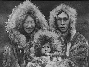 Inuit family, 1930