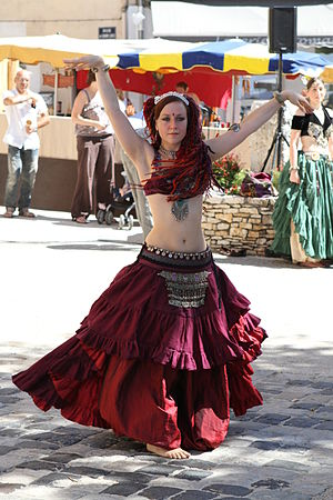 English: Tribal fusion dance with Balkys at re...