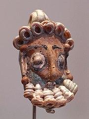 Escultura cefaloforme (con forma de cabeza) procedente de Cartago.
