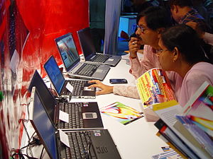 Visitors are checking the Laptops at 'Infocom ...
