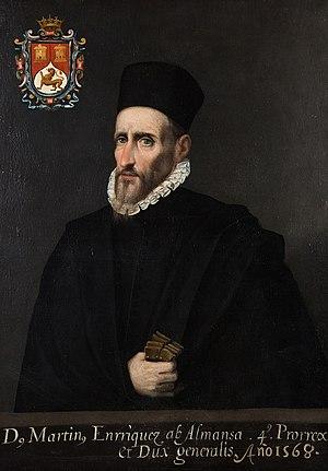 English: Viceroy Martín Enríquez de Almansa Es...
