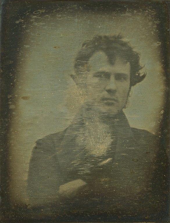 Robert Cornelius självporträtt, 1839
