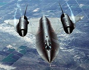 A SR-71 Blackbird supersonic reconnaissance ai...