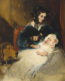 The Duchess of Abercorn and Child by Sir Edwin Henry Landseer (1802-1873).jpg