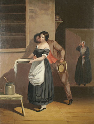 Thomas Prichard Rossiter:Spilt Milk, oil on ca...
