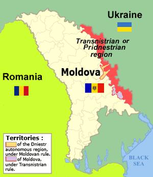 Map of the Transdnestrian Region