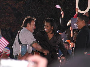 Bruce Springsteen, Michelle Obama and Barack Obama