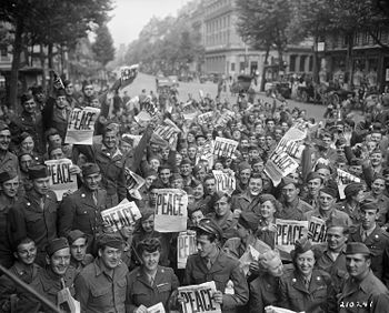 """""""American servicemen and women gather in ..."""