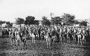 German camel cavalry in German Southwest Afric...