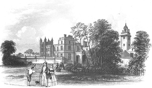 View of Drayton Manor in 1842, the home of Sir Robert Peel