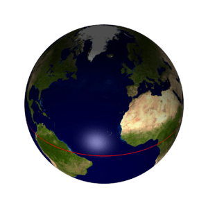 Earth equator northern hemisphere