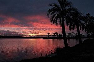 Maldonado City, Uruguay, viewed from la Barra