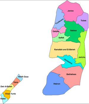 Palestinian Authority governorates