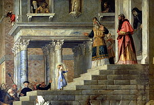The Presentation of the Virgin Mary by Titian ...
