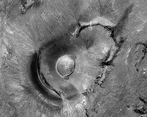 Satellite view of Roden Crater, the site of an...