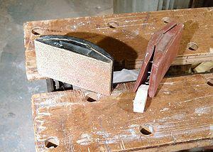 Rubber sanding blocks