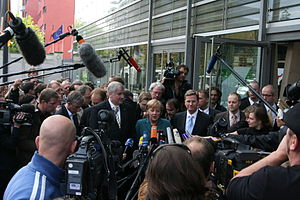 Horst Seehofer, Angela Merkel and Guido Wester...