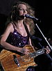 English: Taylor Swift performing at the Cavend...
