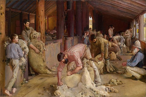 Tom Roberts - Shearing the rams - Google Art Project