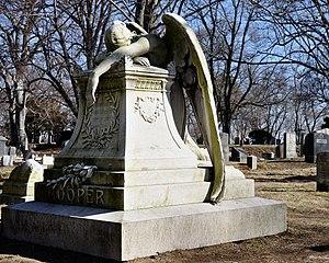 Weeping angel monument, Old Ship Burying Groun...