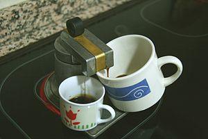 Español: cafetera