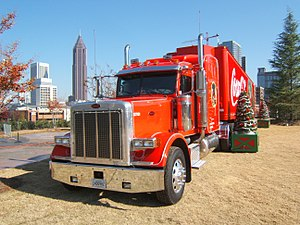 Peterbilt truck model with two rectangular hea...