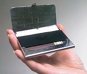 English: Business card case enclosure